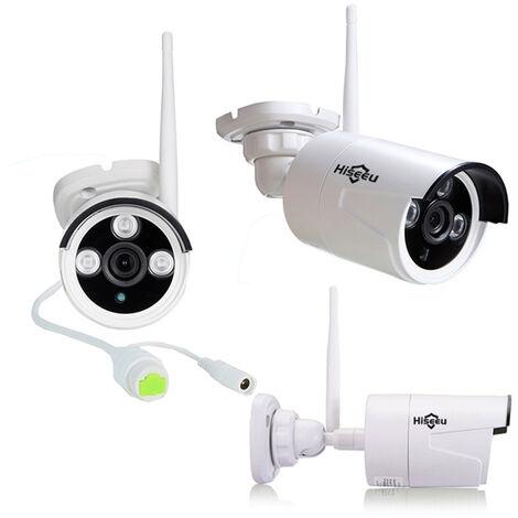 Hiseeu 1080P Wireless CCTV Kit 8CH NVR Outdoor IR Night Vision IP WiFi Cámara Vigilancia de seguridad Mohoo