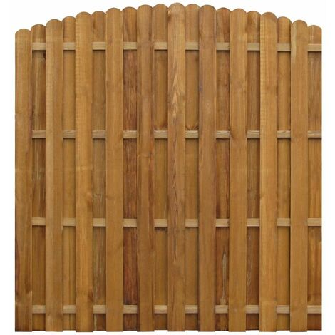 Hit and Miss Fence Panel Impregnated Pinewood 170x(156-170) cm - Brown