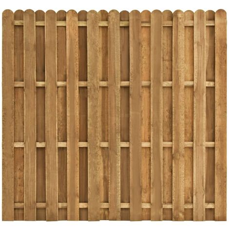 Hit and Miss Fence Panel Pinewood 180x170 cm - Brown