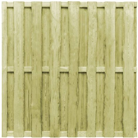 Hit and Miss Fence Panel Pinewood 180x180 cm Green
