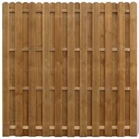 Hit & Miss Fence Panel FSC Wood Vertical