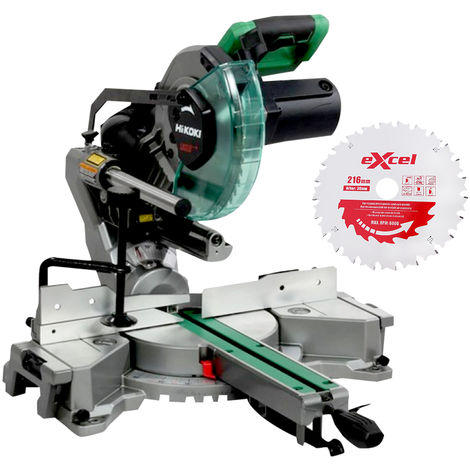 Hitachi & HiKOKI C8FSHGJ2Z Compound Mitre Saw 216mm 110V With 24T Blade