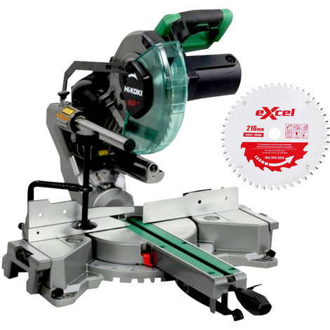 Hitachi & HiKOKI C8FSHGJ2Z Slide Compound Mitre Saw 216mm 110V With Blade