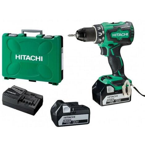 Hitachi - Hikoki– Perceuse visseuse 18V Li ion 2x5Ah 70 Nm (sans charbon) - DS18DBSL