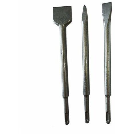 Hitachi - Hikoki- set de 3 burins SDS+ (pic+ plat+ bêche) - TNT