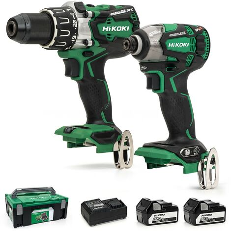 Hitachi KC18DPL2/JP Brushless Combi Drill and Impact Driver 2 x 5ah - KC18DPL2/JP