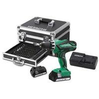 HITACHI Perceuse visseuse DS18DJL + 2 batteries 18V 1,5Ah Li-ion + chargeur + 54 accessoires + mallette en aluminium