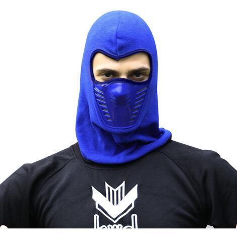 Hiver Chaud Moto Coupe-Vent Visage Masque Chapeau Cou Casque Bonnets Pour Homme Femme Sport Chapeaux, Bleu Fonce