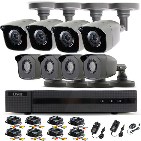 """main image of """"HIZONE PRO 1080P CCTV KIT SECURITY SYSTEM 16CH DVR & 8 X 2MP FULL HD METAL HOUSING IP66 WATERPROOF INDOOR OUTDOOR Gray BULLET 2.8mm WIDE ANGLE CAMERAS 20M IR NIGHT VISION EASY P2P REMOTE VIEW MOTION DETECTION UK SELLER-different size HDD available"""""""