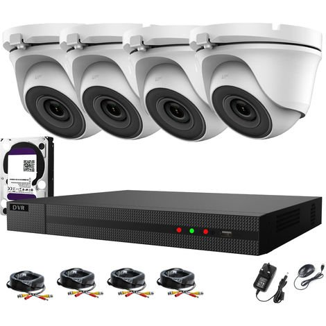Hizone Pro 8CH CCTV KIT DVR 1080P & 4x 2.0MP Full HD 1080P 3.6mm White Dome CCTV Cameras IR 20M Night Vision 1080P Output, Easy Mobile Access, Email Notification, Day/Night Vision (2TB HDD pre-installed)