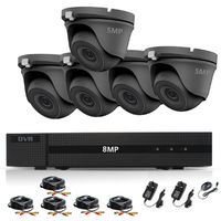 HIZONE PRO 8MP CCTV KIT SECURITY SYSTEM 4K DVR 8CH+& 5X5MP FULL HD METAL HOUSING WATERPROOF IN/OUTDOOR DOME CAMERAS 20M NIGHTVISION P2P MOTION DETECTION EMAIL ALERT REMOTE VIEW- different size HDD available