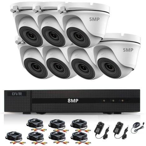 """main image of """"HIZONE PRO 8MP CCTV KIT SECURITY SYSTEM 4K DVR 8CH H.265+ &7X 5MP ULTRA HD METAL HOUSING IP66 WATERPROOF INDOOR OUTDOOR DOME CAMERAS 20M IR NIGHT VISION P2P REMOTE VIEW- different size HDD available"""""""