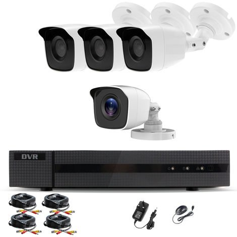 """main image of """"Hizone Pro Home CCTV Cameras System 8 Channel 1080P Surveillance DVR Kit and 4 x 2MP 3.6mm Outdoor Indoor White Bullet CCTV Cameras 1080P HD smart Security Camera system Motion Detection Email Alert P2P Free HIC-CONNECT APP-different size HDD available"""""""