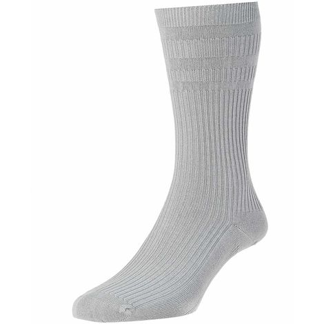 HJ91 Hall Mens Softop Loose No Elastic Cotton Rich Socks