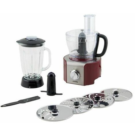 H.Koenig MX18 - Procesador de alimentos multifunción, 800 W, 1.5 l, color rojo