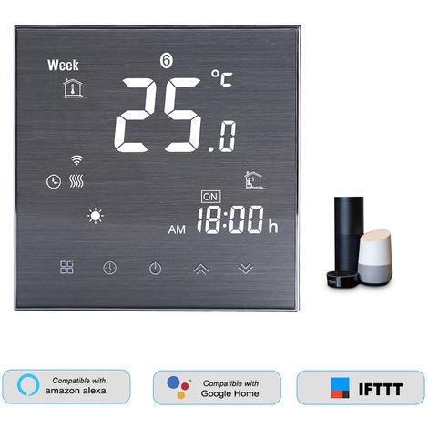 HL-2000L-CGTL WiFi termostato inteligente para la caldera de agua / gas Controlador de temperatura digital, compatible con Amazon Eco / Google Inicio / Tmall Genie / IFTTT 5A AC 95-240V, blanca