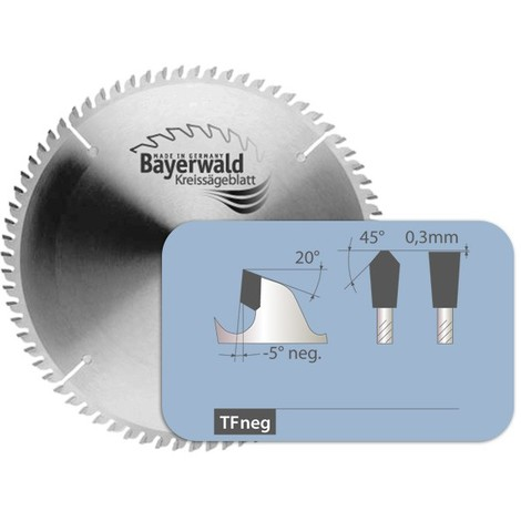 HM Kreissägeblatt - Ø 160 mm x 2,8 mm x 20 mm   Z=42 TF negativ
