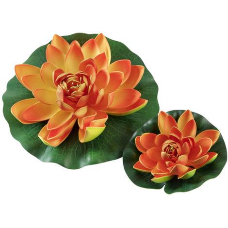 Hobby Seerose orange - künstliche Teichpflanze