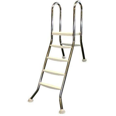 Hochbeckenleiter Edelstahl 1x4-stufig mit 1x1 Stufen für 1,2m Beckenhöhe 42067446
