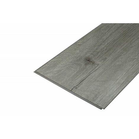 Hochbeständiger SPC-Vinyl-Bodenbelag mit Clips, graue Eiche, 1,95 m² (Nutzschicht 0,5 mm) - Farbe - Graue Eiche, Deckfläche in m² - 1,95