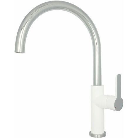 Hochdruck Armatur Küche Chrom Weiss Wasserhahn Einhebelmischer Spültischarmatur Hochdruck schwenkbar Küchenarmatur