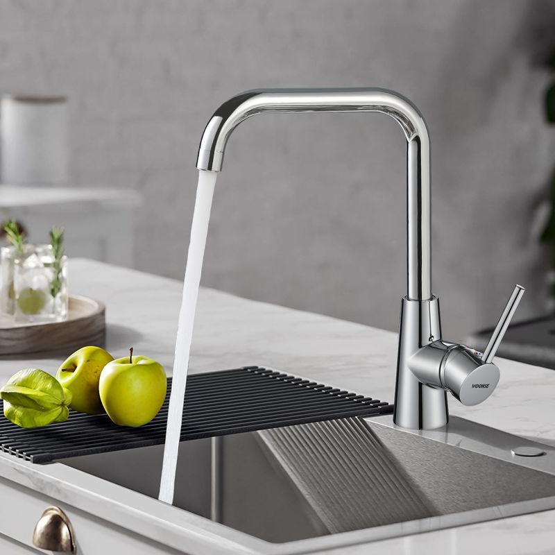 Schwenk Hochdruck Küchenmischer Spültischarmatur Mischbatterie Wasserhahn Küche#