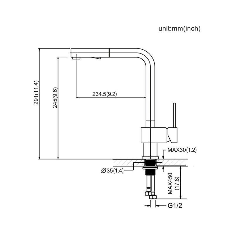 Häufig Hochdruckarmatur Ausziehbar Küchenarmatur Wasserhahn Armatur Küche PH01
