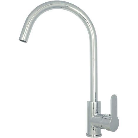 Hochdruckarmatur Küche Küchenarmatur Chrom Hohe Spültischarmatur Hochdruck schwenkbar Wasserhahn Armatur