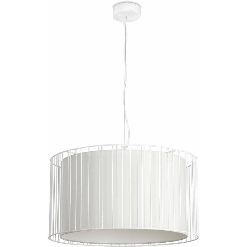 08-faro - Linda weiße Pendelleuchte 1 Glühbirne