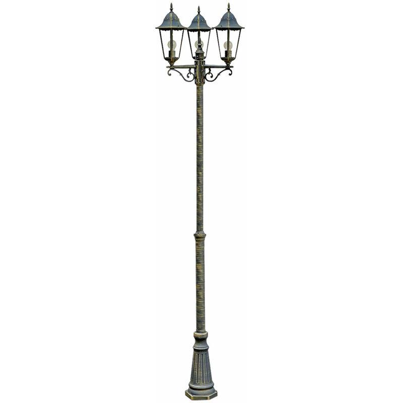 Etc-shop - Design Außen Leuchte Kandelaber Steh Lampe Stand Beleuchtung im Set inklusive LED Leuchtmittel