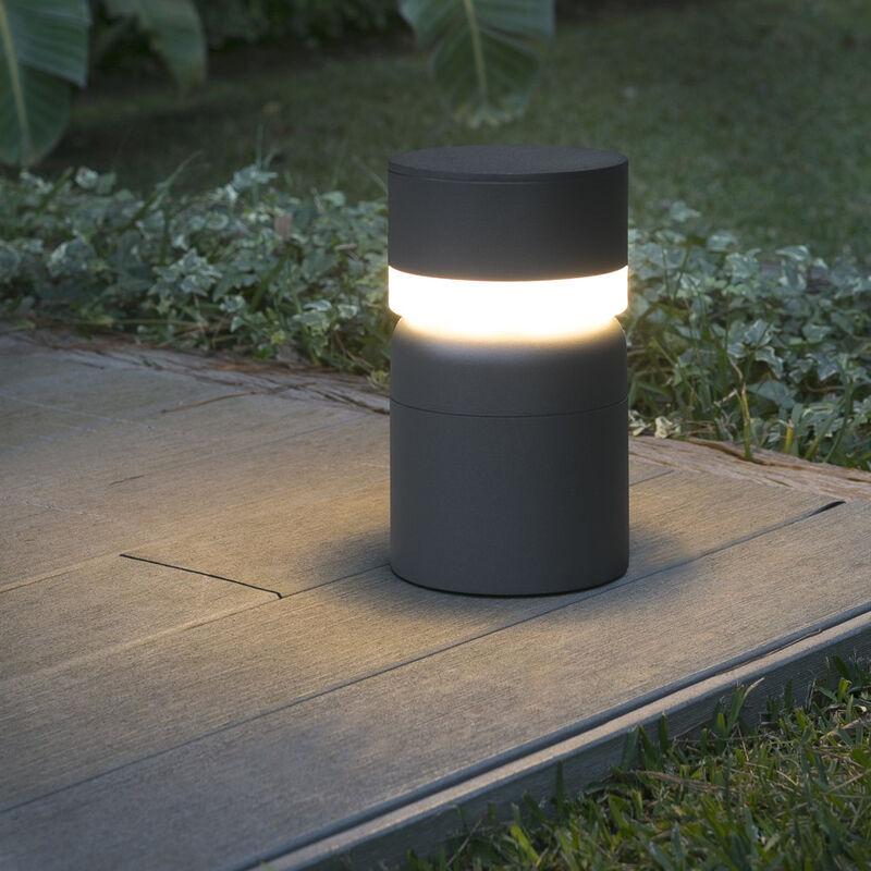 Hochwertige Sete LED Wegeleuchte rund in dunkelgrau IP54