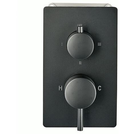 Hochwertige Unterputz-Duscharmatur UP13-01 schwarz mit 3 Wege-Umsteller