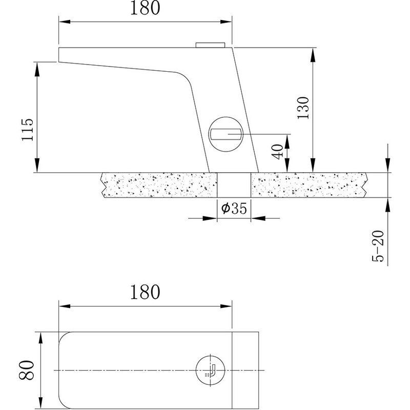 Hochwertige Wasserfall Waschtischarmatur NT6960 in Chrom