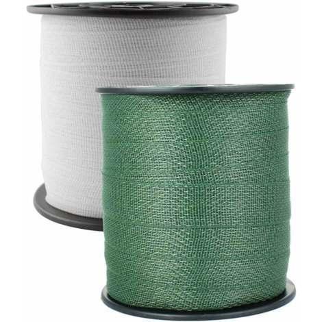 Hochwertiges Band für 4 cm Elektrozaun in 200 m Rolle mit 9 0,20 mm Stahlleitern Umbria Equitazione