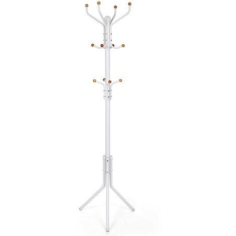 Höhe 182cm Garderobenständer stabil metall Kleiderständer Garderobe Weiß RCR19W