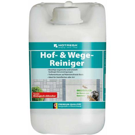 Hof- & Wege-Reiniger Konzentrat 5 Liter, Steinreiniger, Terrassenreiniger, Plattenreiniger HOTREGA - 19576