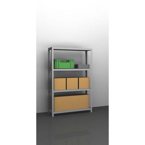 hofe Rayonnage de stockage à boulonner, galvanisé, modèle mi-lourd - hauteur rayonnage 1500 mm, largeur tablettes 1000