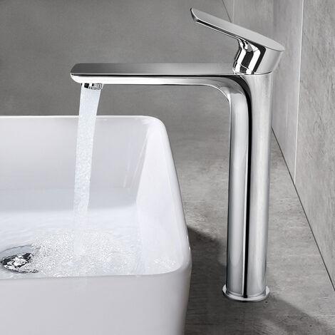 Hohe Badarmatur Waschtischarmatur Wasserhahn Bad Mischbatterie Armatur Einhebelmischer Waschtisch Waschbeckenarmatur für Badzimmer