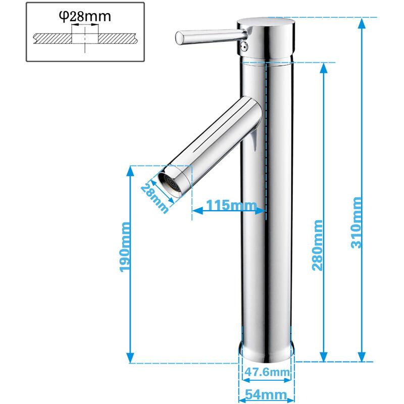 Sehr Hohe Einhebel Waschtischarmatur Badarmatur Wasserhahn Waschtisch CA21