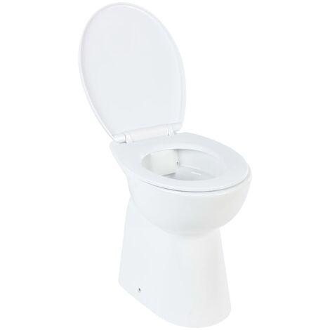 Hohe Spülrandlose Toilette Soft-Close 7 cm Höher Keramik Weiß