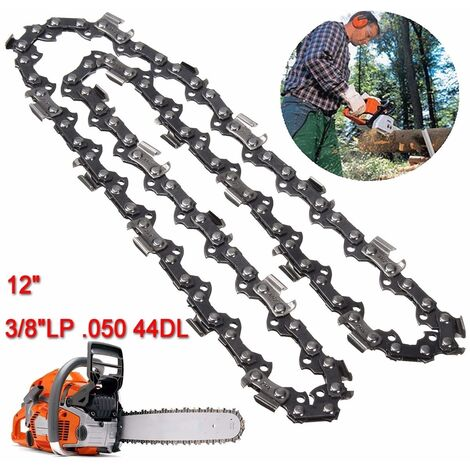 Hoja de cadena de sierra de cadena 44DL de 12 pulgadas, calibre LP 0,50 de 3/8 pulgadas para castor LAVENTE