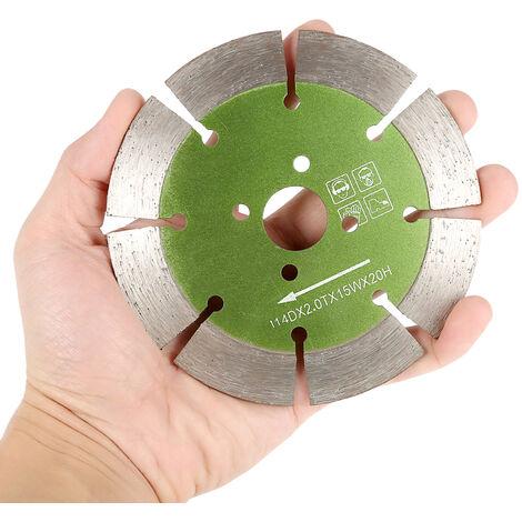 Hoja de corte de diamante segmentada de corte en seco, 114 * 2.0 * 20 mm
