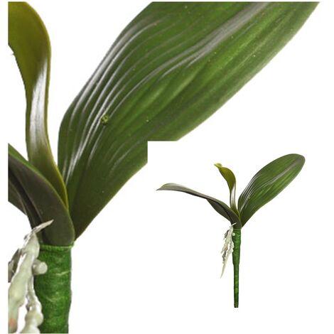 Hoja de Orquidea Artificial. 22 Cm