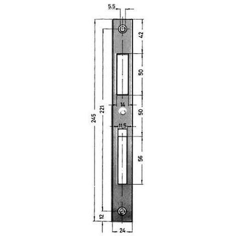 Hoja de schel no 0129-03-24/245X24X2 milímetro verz