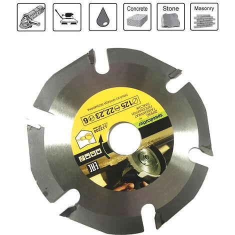 Hoja de sierra circular de 125 mm 6T, amoladora de multiples herramientas, disco de sierra con punta de carburo