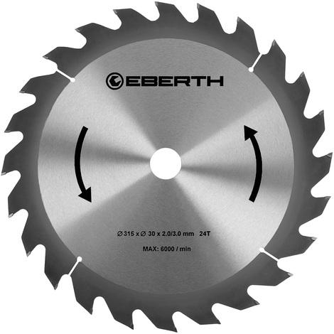 Hoja de sierra circular de carburo para xilografías (315 x 3,0 x 30 mm, 24 Dientes, larga vida) Disco de corte
