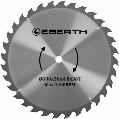Hoja de sierra circular de carburo para xilografías (600 x 4,0 x 30 mm, 36 Dientes, larga vida) Disco de corte