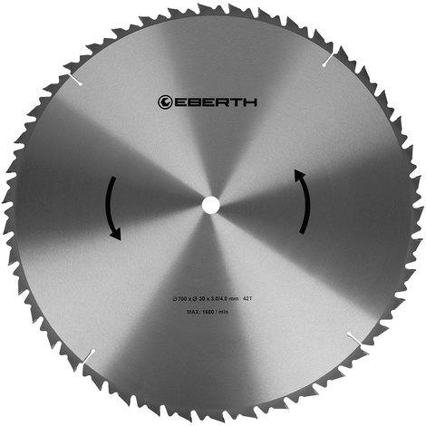 Hoja de sierra circular de carburo para xilografías (700 x 4,0 x 30 mm, 42 Dientes, larga vida) Disco de corte