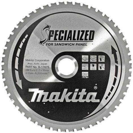 Hoja de sierra circular especializada Makita B-17675 - 235 x 30 x 50T - Metal