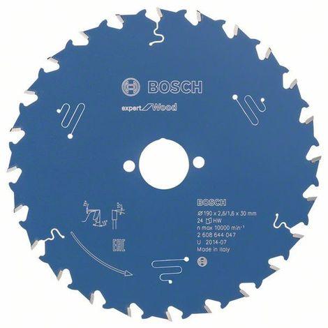 Hoja de sierra circular Expert for Wood 190x30mm T24 Bosch Expert for Wood